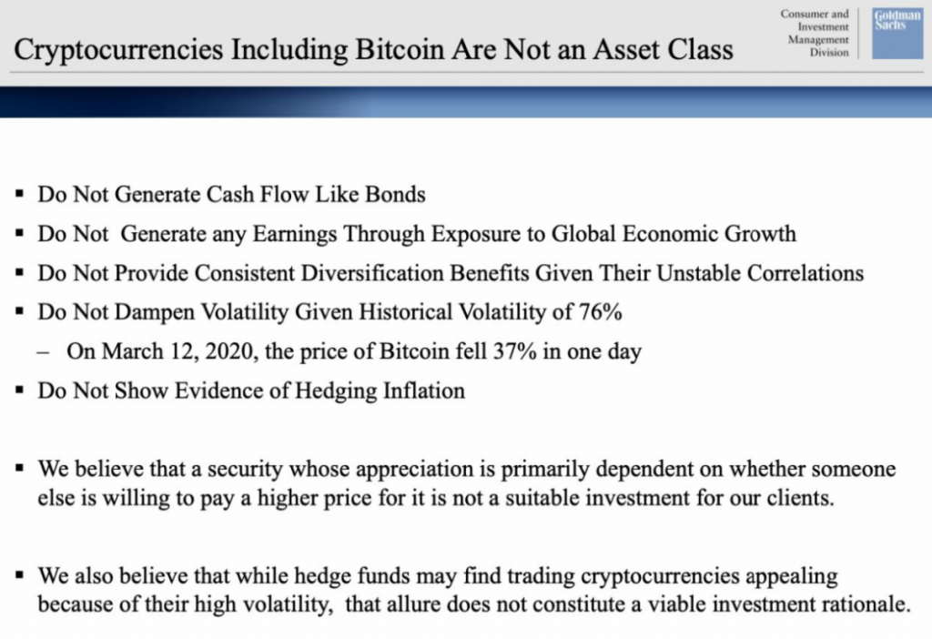 Cryptocurrencies are not asset classes.