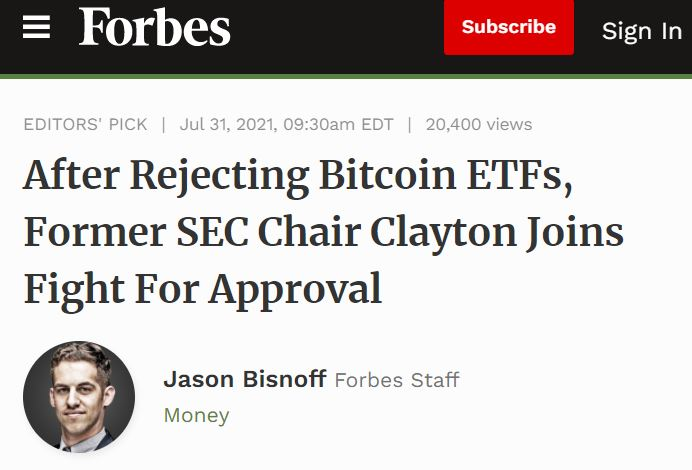 After rejecting ETF article